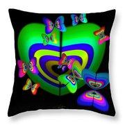 Rhapsody In Green Throw Pillow