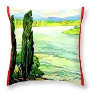Rhine River, Alsace, France Throw Pillow