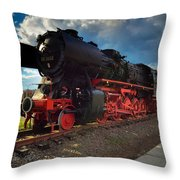 Rhineland-palatinate Locomotive Throw Pillow