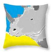 Rhino Drink. Throw Pillow