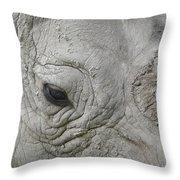 Rhino Eye Throw Pillow