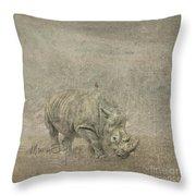 Rhino Throw Pillow