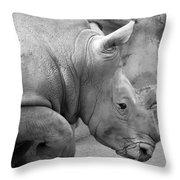 Rhino Profile Throw Pillow