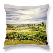 Rhode Island Coast Throw Pillow