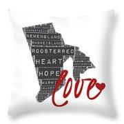 Rhode Island Love Throw Pillow