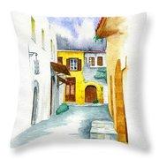 Rhodes Greece Throw Pillow