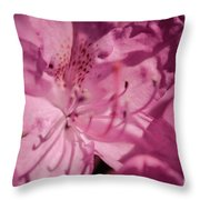 Rhododendron-close Up Throw Pillow