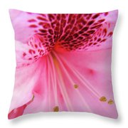 Rhododendron Flower Macro Pink Rhodies Baslee Troutman Throw Pillow