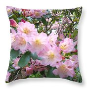 Rhododendron Flowers Garden Art Prints Floral Baslee Troutman Throw Pillow