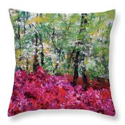 Rhododendron Glade Norfolk Botanical Garden 201821 Throw Pillow