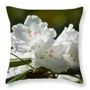 Rhododendron II Throw Pillow