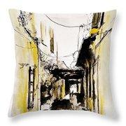 Rhodos City Throw Pillow