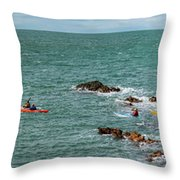 Rhoscolyn Rock Panorama Throw Pillow