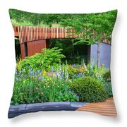 Rhs Chelsea Homebase Urban Retreat Garden Throw Pillow