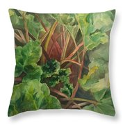 Rhubarb Spy Throw Pillow