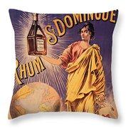 Rhum - Bottle - Earth - Map - Poster - Vintage - Wall Art - Art Print  - Girl  Throw Pillow