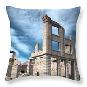 Rhyolite Ghost Bank Throw Pillow