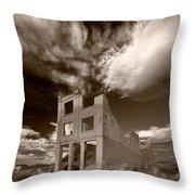 Rhyolite Nevada Ghost Town Throw Pillow