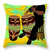 Rhythm Of The Drums Throw Pillow