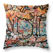 Rhythm Of The Forest Throw Pillow