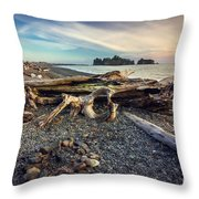 Rialto Beach Washington Throw Pillow