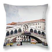 Rialto Bridge Throw Pillow