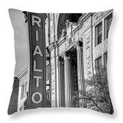 Rialto Square Theater Throw Pillow