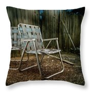 Ribbon Chairs Throw Pillow