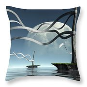 Ribbon Island Throw Pillow