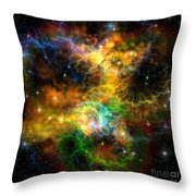 Ribbon Nebula Throw Pillow