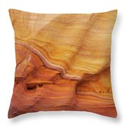 Ribbon Of Rock Throw Pillow