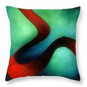 Ribbon Of Time Throw Pillow