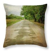 Ribbon Road - Sidewalk Highway Throw Pillow
