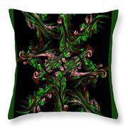 Ribbon Painting Art Throw Pillow