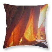 Ribbons - Cave Throw Pillow