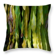 Ribbons Of Green Throw Pillow