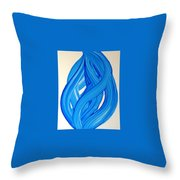 Ribbons Of Love-blue Throw Pillow