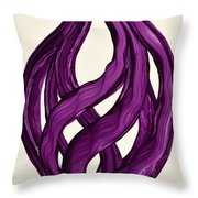 Ribbons Of Love-violet Throw Pillow