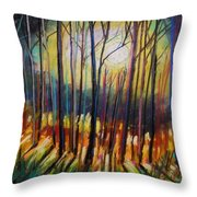Ribbons Of Moonlight Throw Pillow