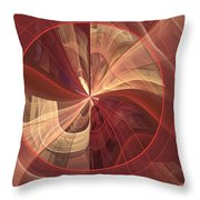 Ribbons Of Pink Throw Pillow