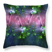 Ribbons Of Romance Throw Pillow