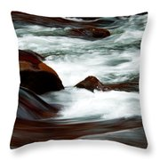 Ribbons Of Water Throw Pillow