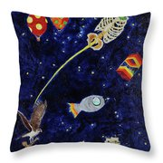 Ribcage To The Stars Throw Pillow