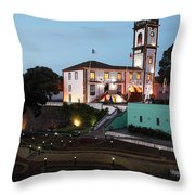 Ribeira Grande Town Hall Throw Pillow