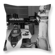 Riccardo Patrese. 1986 Spanish Grand Prix Throw Pillow