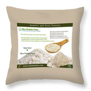 Rice Protein And Arsenic Throw Pillow