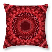 Rich Red Mandala Throw Pillow