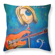 Rich Ross And His Bass Throw Pillow