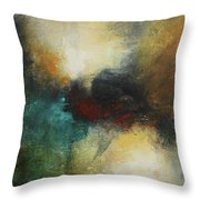 Rich Tones Abstract Painting Throw Pillow