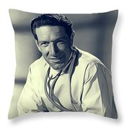 Richard Boone, Vintage Actor Throw Pillow
